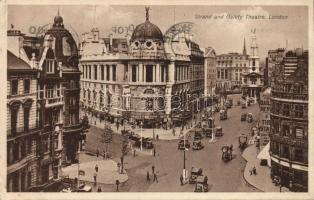 London, Strand and Gaiety Theatre, automobiles