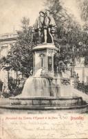 Brussels, Bruxelles; Monument des Comtes d'Egmont et de Horn / statue