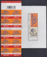 COBRA Artist Group block self-adhesive stamp booklet, COBRA Művészcsoport blokk öntapadós bélyegfüzet, Gemälde der Künstlergruppe COBRA selbstklebendes Markenheftchen