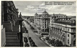 Belgrade Milos the Great avenue