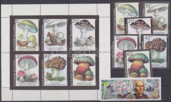1991-1992 29 klf bélyeg teljes sorokban + 2 kisív + 2 blokk berakólapokon