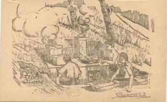 1922 Balatonaliga, 91. Turul konyha, szignós