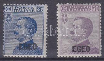1912 Forgalmi felülnyomott sor Mi 1-2