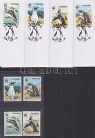1997 WWF Pápaszemes pingvin sor Mi 837-840 + a sor 4 FDC-n