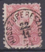 1871 Réznyomat 5kr HOSSZUPERESZTEG