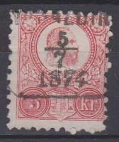 1871 Réznyomat 5kr VARAZDIN (B3.10 típus)