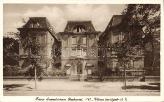 Budapest VII. Fasor Szanatórium; Vilma királynő út 9.