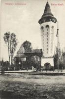 Palics-fürdő entrance with water tower