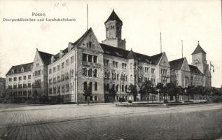 Poznan, Posen; Oberpostdirektion, Landschaftsbank / post office, bank