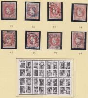 1866 Mi 20 típusrekonstrukció, 8 bélyeg