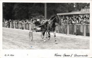 1940 Horse carriage driving race, photo, 1940 Fogathajtó verseny, photo