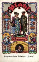 Gruss aus dem Münchner Platzl, d'Dachaur s: Otto Obermeier