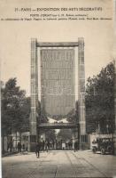 1925 Paris, Exposition Internationale des Arts Decoratifs, Porte d'Orsay / Decorative Arts Expo, gate, automobile
