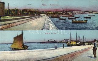 Pola, Riva / port, ships