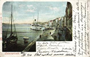 Mali Losinj, Lussinpiccolo; port, steamship