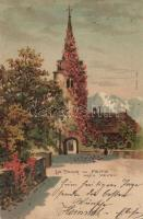 Vevey, Peitz tower, litho