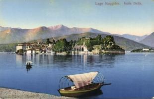 Isola Bella, Lake Maggiore / island, lake, boat