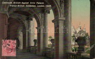 1908 London, Colonnade of British Applied Arts Palace, Franco-British Exhibition