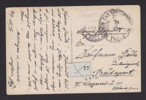 1917 Haditengerészeti posta képeslap SMS KAISERIN UND KÖNIGIN MARIA THERESIA - Budapest