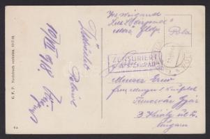 1918 Humoros matrózlap a ÁRPÁD hajóról