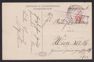 1917 Humoros matrózlap a ZRÍNYI hajóról