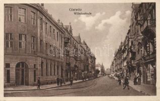 Gliwice, Gleiwitz; Wilhelmsrtasse / street