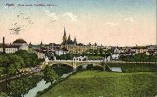 Plzen, Pilsen, Franz Joseph bridge