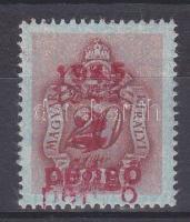 1945 Kisegítő Portó 2P/20f kettős felülnyomattal / Postage due Mi 176 with double overprint