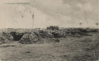 Französischer Schützengraben / WWI French military trench, Első világháborús francia lövészárok