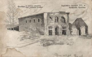 Gorlice Szpichler court after Russian invasion