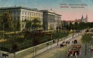 Lviv, Lwów, Lemberg; Ulica Leona Saphiehy / street, automobile, tram