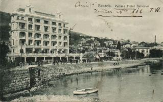 Abbazia, Palace Hotel Bellevue, boat, Abbazia, Palace Hotel Bellevue, csónak