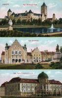 Poznan, castle, academy, town hall, Poznan, kastély, akadémia, városház, Posnan, Residenzschloss, Akademie, Ansiedlungskommission
