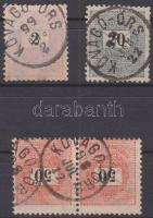 1889-1898 2 bélyeg + 1 pár KŐVÁGÓ-ÖRS