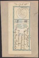 1917 Pénzutalvány feladóvevény EP MIECHOW