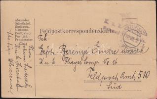 1916 Tábori lap Kuk. Heeresbahn Bahnamt Wloszczowa EP WLOSZCZOWA a