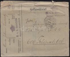 1916 Tábori levél Kuk. Heeresbahn Bahnamt Wloszczowa EP WLOSZCZOWA a