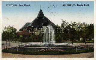 Subotica, Banja Palic / spa 'vissza' So. Stpl, Szabadka, Palics gyógyfürdő 'vissza' So. Stpl