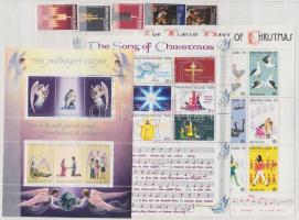 1971-1980 Christmas 2 diff. sets + 3 diff. minisheets, 1971-1980 Karácsony 2 klf sor + 3 klf kisív, 1971-1980 Weihnachten 2 verschiedene Sätze + 3 verschiedene Kleinbögen