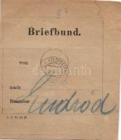 1917 Levélköteg címzés FP 368 - Endrődre, ott ismét felhasználva Gyulára
