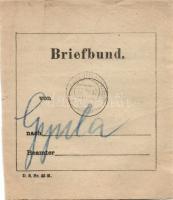 1917 Levélköteg címzés HFP 520a