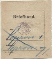 1917 Levélköteg címzés FP 629a ismét felhasználva HFP 195IIa