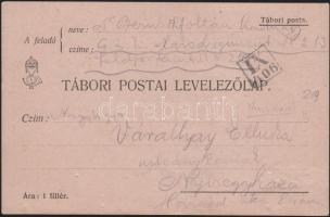 1914 Tábori lap IX/416 néma bélyegzővel / Field postcard from Galicia with silent postmark