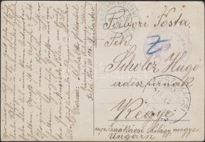 1915 Képeslap Lengyelországból / Postcard from Poland K.u.K. Kreiskommando Lubratow + EP LUBRATOW - Kegye