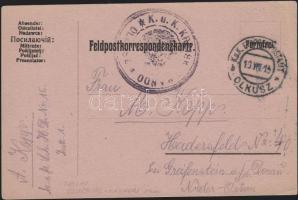 1915 Tábori lap Lengyelországból / Field postcard from Poland EP OLKUSZ b