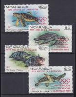 1980 Olimpia, teknősök Mi 2099-2104