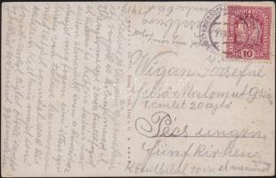 1917 Képeslap fogolytáborból KRIEGSGEFANGENENLAGENLAGER WIESELBURG a.d. ERLAUF -Pécs
