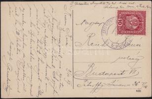 1917 Képeslap hadifogolytáborból / Postcard from P.O.W. camp KRIEGSGEFANGENENLAGER PURGSTALL b