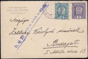 1917 Levél hadifogoly táborból KRIEGSGEFANGENENLAGER MAUTHAUSEN d