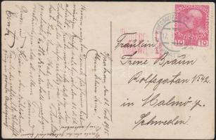 1915 Képeslap hadifogolytáborból Svédországba KRIEGSGEFANGENENLAGES SPRATZERN b